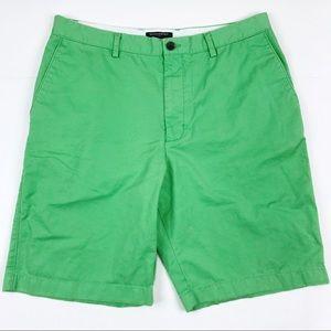 Men's Banana Republic Green Flat Front Shorts